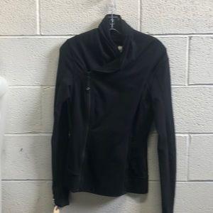 Lululemon black double zip up jacket sz 6 62405